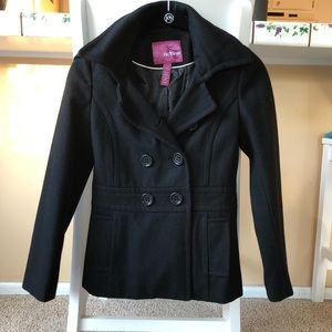 Black Short Pea Coat